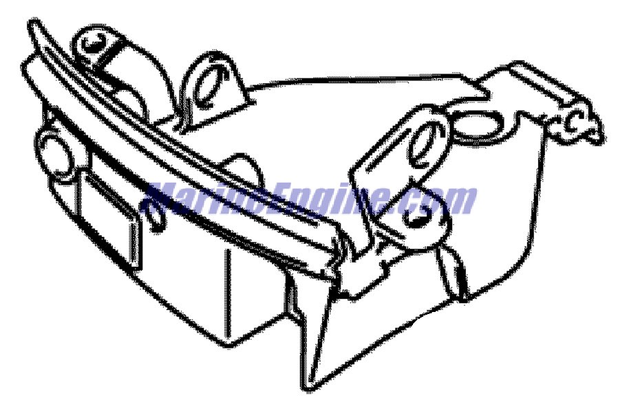 lower engine cover Parts for 2007 15hp j15te4sub Outboard