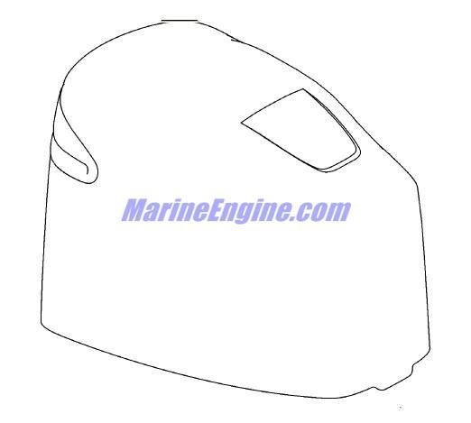Mercury Marine V-150 HP DFI (2.5L) Top Cowl Parts