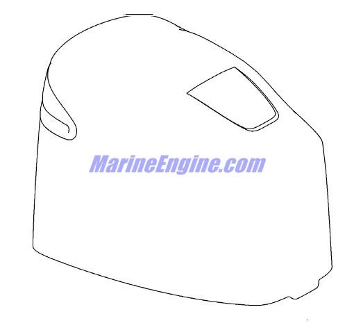 Mercury Marine V-135 HP DFI (2.5L) Top Cowl (Serial No