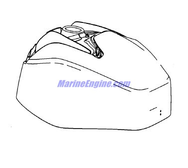 Mercury Marine 60 HP EFI (4 Cylinder) (4-Stroke) Top Cowl