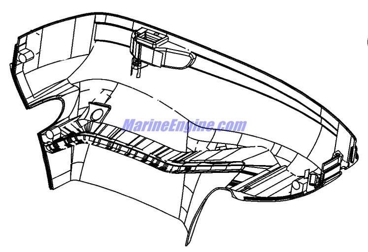 Mercury Marine 250 HP Pro XS (3.0L DFI) Bottom Cowl Parts
