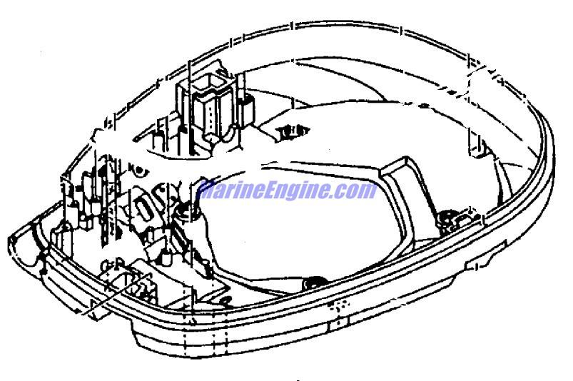 Mercury Marine 225 HP EFI (4-Stroke) Bottom Cowl Parts