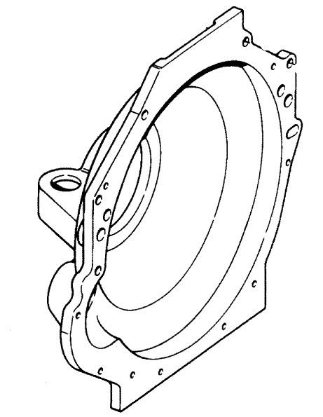 MerCruiser 5.0L MPI Alpha / Bravo Cylinder Block-flywheel