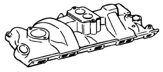 MerCruiser 5.7LX (4 Barrel) GM 350 V-8 1997 Intake