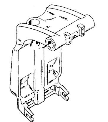 Force 120 HP (1996) Swivel Bracket & Steering Arm Parts