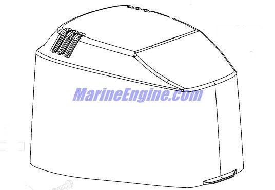 Mercury Marine 225 HP (3.0L EFI) Top Cowl Parts