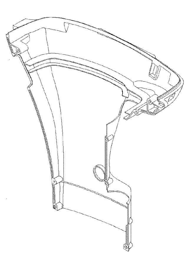 Mercury Marine 50 HP (4-Stroke) Bottom Cowl Parts