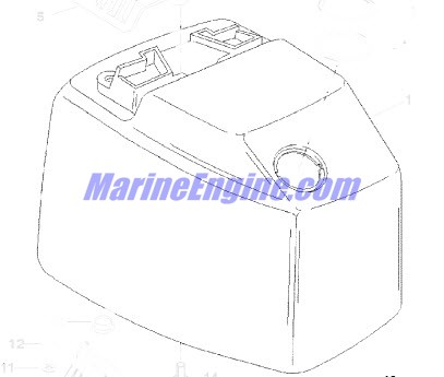 Mercury Marine 75 HP (3 Cylinder) Top Cowl Parts