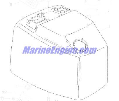 Mercury Marine 90 HP (3 Cylinder) Top Cowl Parts