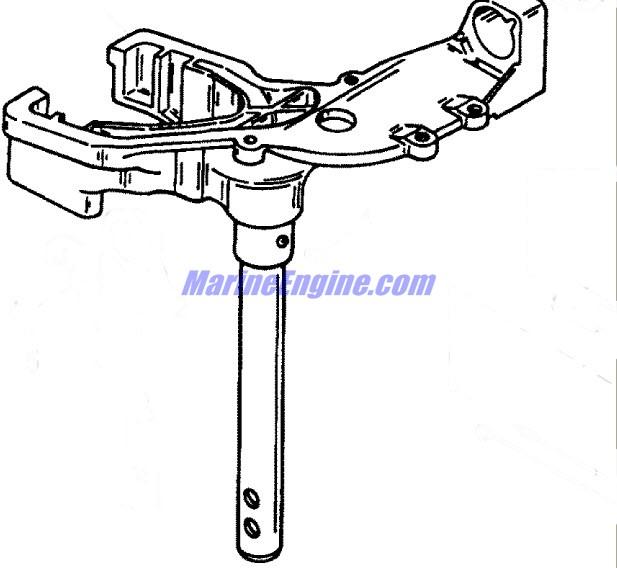 Mercury Marine 15 HP SeaPro Swivel Bracket Assembly Parts