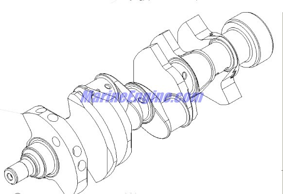 MerCruiser 350 Mag MPI MIE Crankshaft & Flywheel Parts