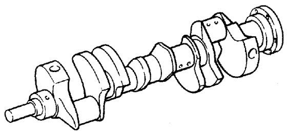 MerCruiser 5.0L EFI GM 305 V-8 1999-2001 Crankshaft