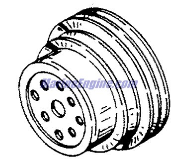 MerCruiser 3.0L MPI EC Cylinder Block, Front Cover