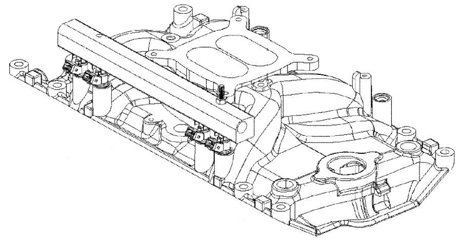MerCruiser 350 Mag MPI MIE Intake Manifold & Fuel Rails Parts