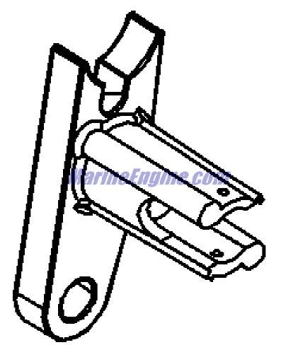 MerCruiser 4.3L Carburetor Alpha / Bravo Shift Bracket