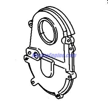 MerCruiser 8.1L Inboard (H.O.) Cylinder Block, Crankshaft