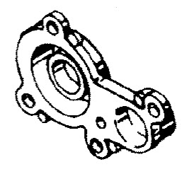 Mariner 40 HP (2 Cylinder) Cylinder Block (Con't) Parts