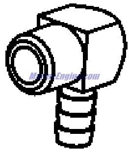 MerCruiser 8.1L Inboard (H.O.) Exhaust Manifold, Elbow