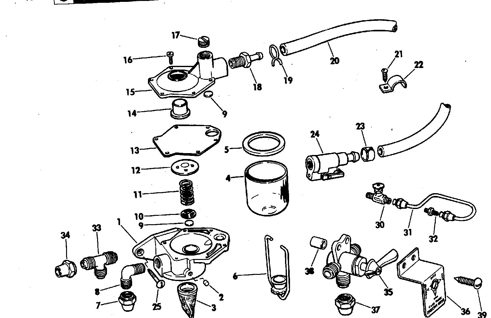 Primer Pump Kit Fuel System 1972 Accessories for 1972
