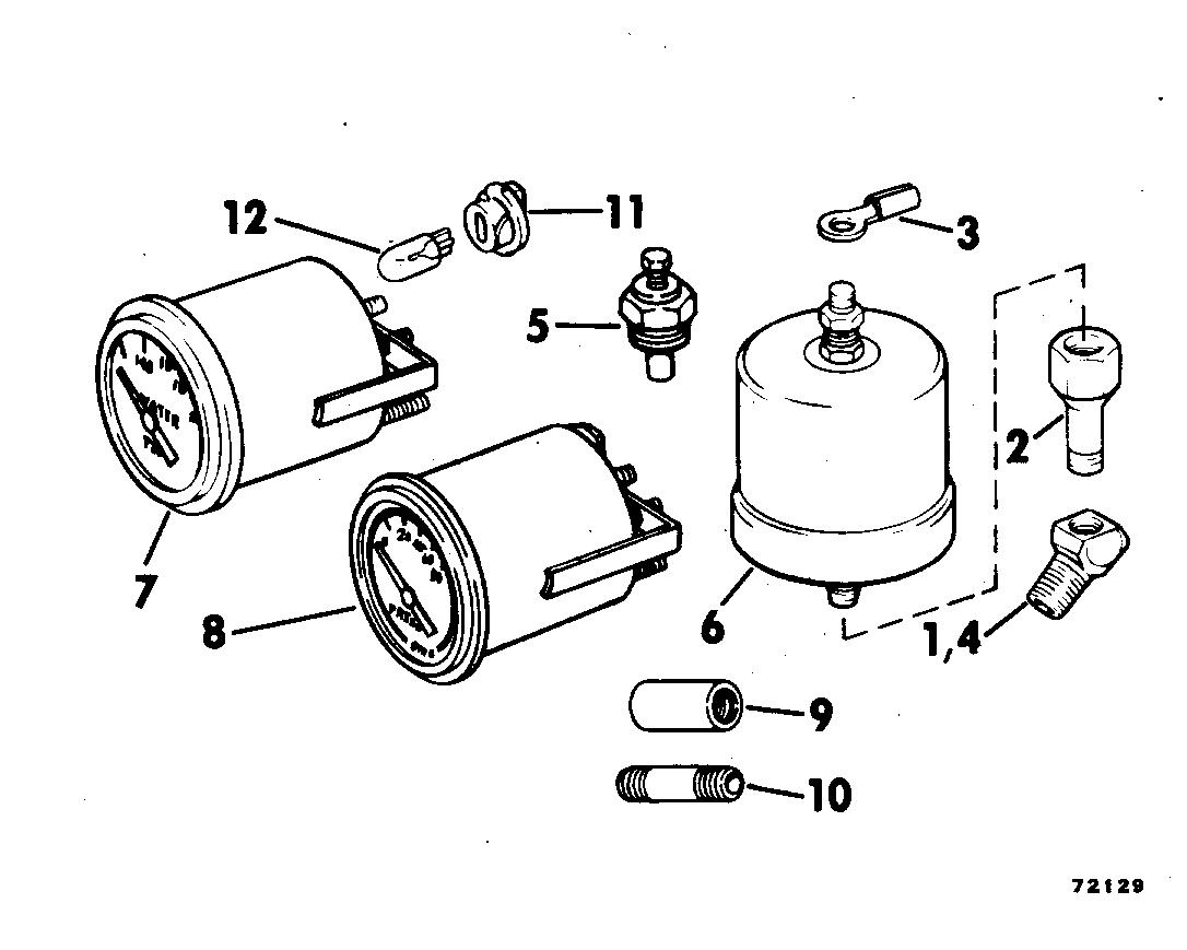 Oil Pressure-water Temp Gauge Kit Instruments 1978