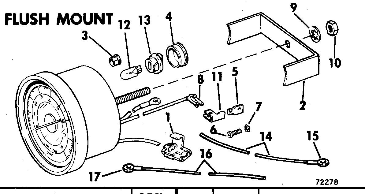 Tachometer Kit-flush Mount 9.9-235 Hp, Sail Drive-4000 Rpm