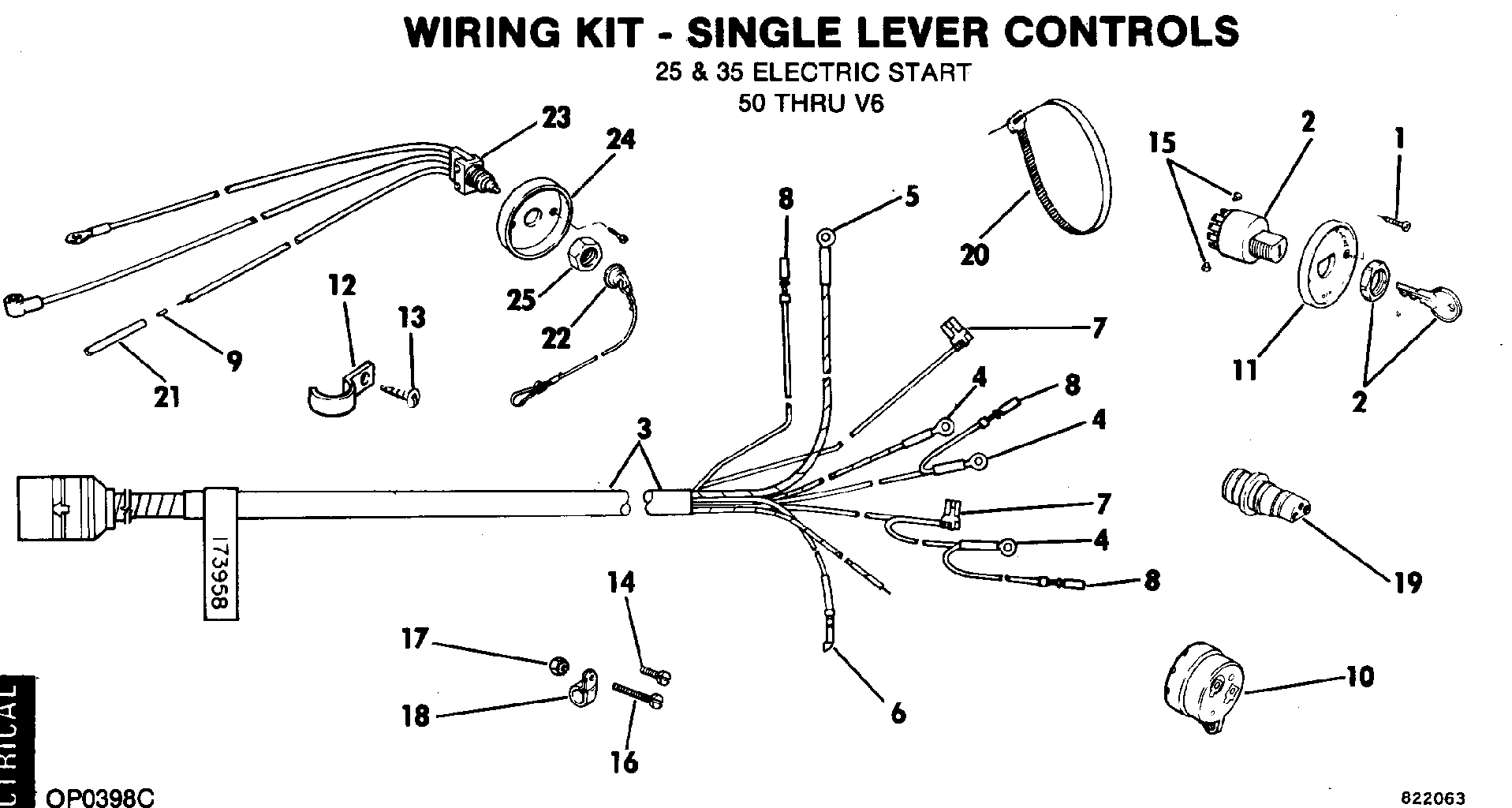 Wiring Kit Single Lever Controls 25 Amp 35 Ele