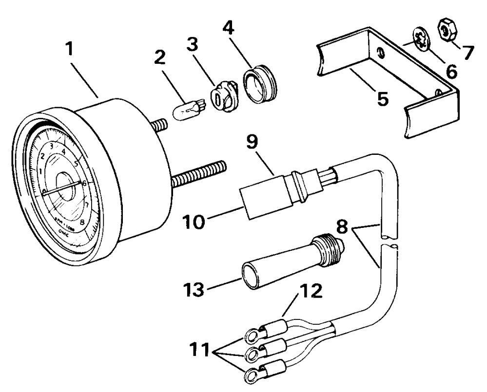 medium resolution of johnson outboard tach wiring wiring diagram technic johnson outboard tachometer wiring