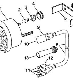 tachometer kits flush mount analog plug in instruments 1992 evinrude johnson omc new instrument tach wiring harness 174732 [ 993 x 793 Pixel ]
