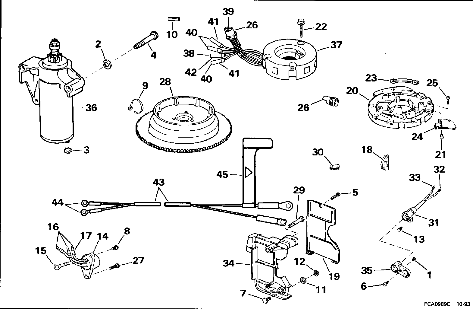 Tiller Electric Starting Kit