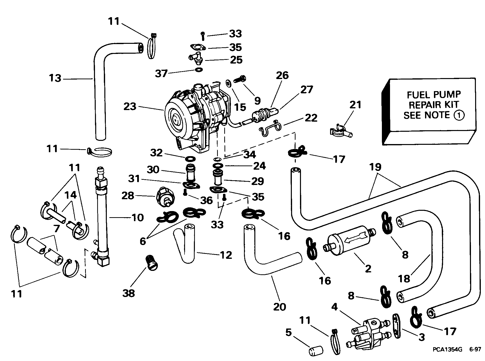 Fuel Pump Conversion Kit 90 115 Models Fuel Systems