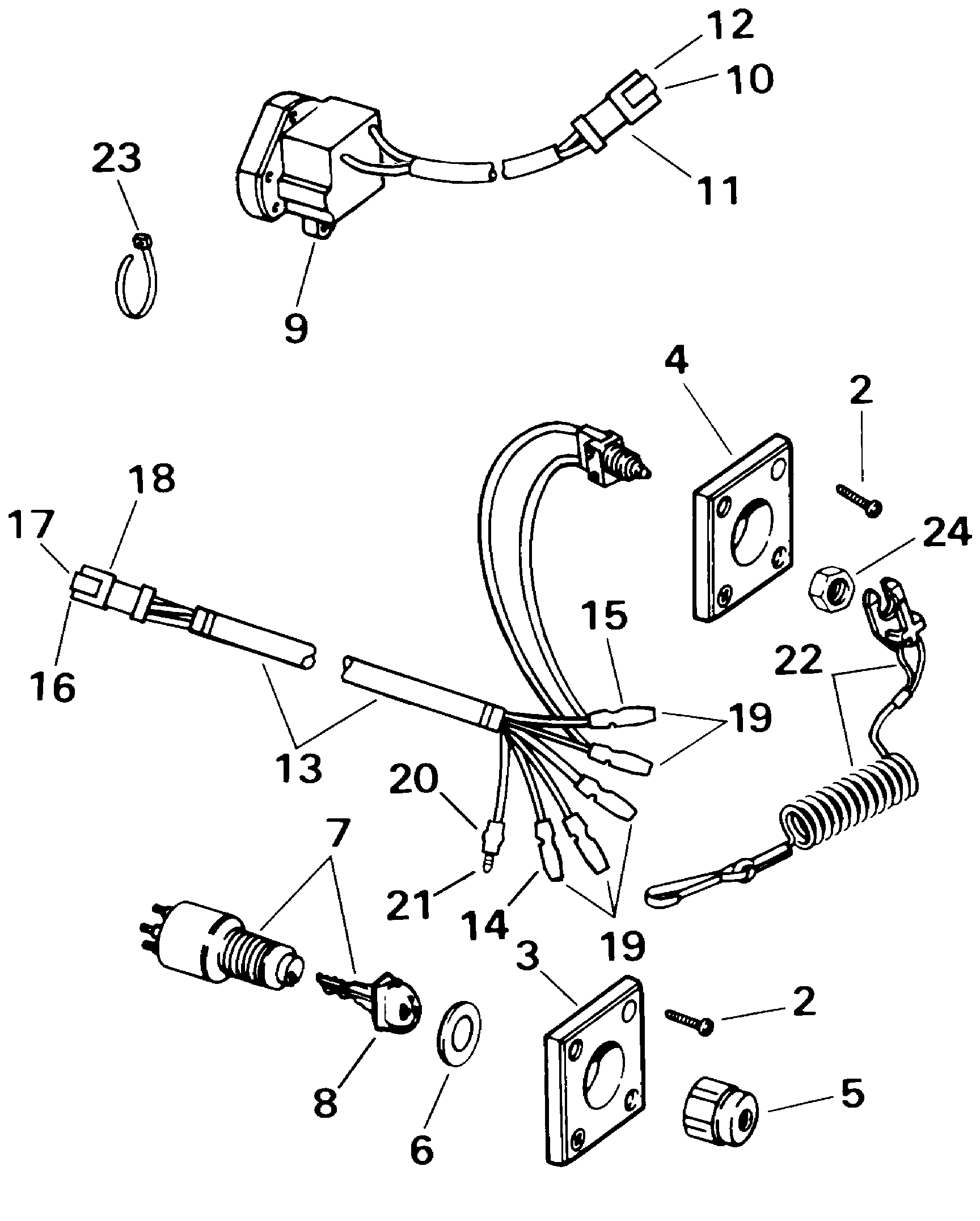 hight resolution of ignition switch remote stop switch system check electrical 2000 rh marineengine com boat ignition switch wiring diagram 1993 evinrude ignition switch wiring