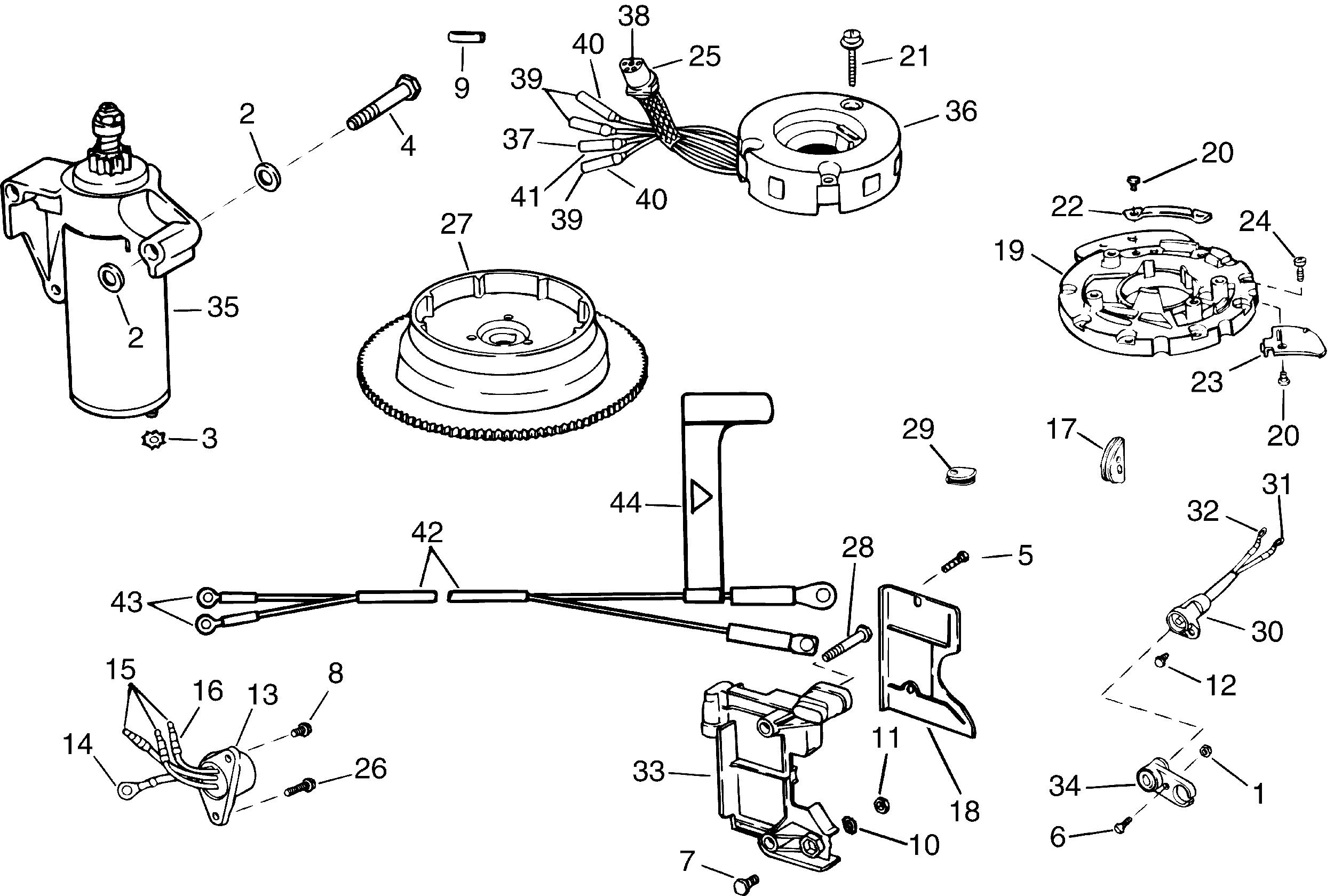 evinrude 9 electric start wiring diagram