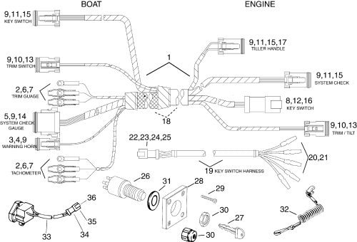 small resolution of 5005800 brp evinrude ignition switch wiring diagram all kind of