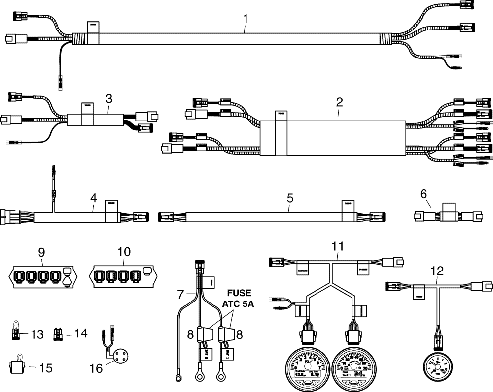 medium resolution of engine section harnesses connectors