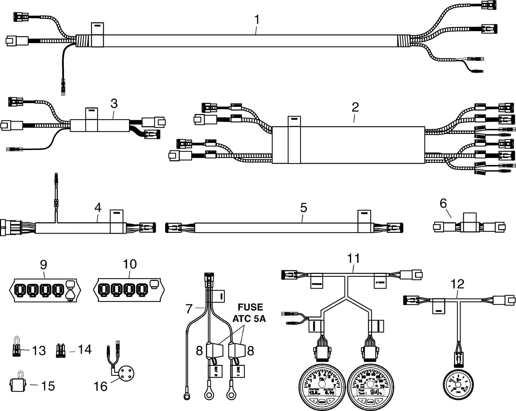 hight resolution of engine section harnesses connectors