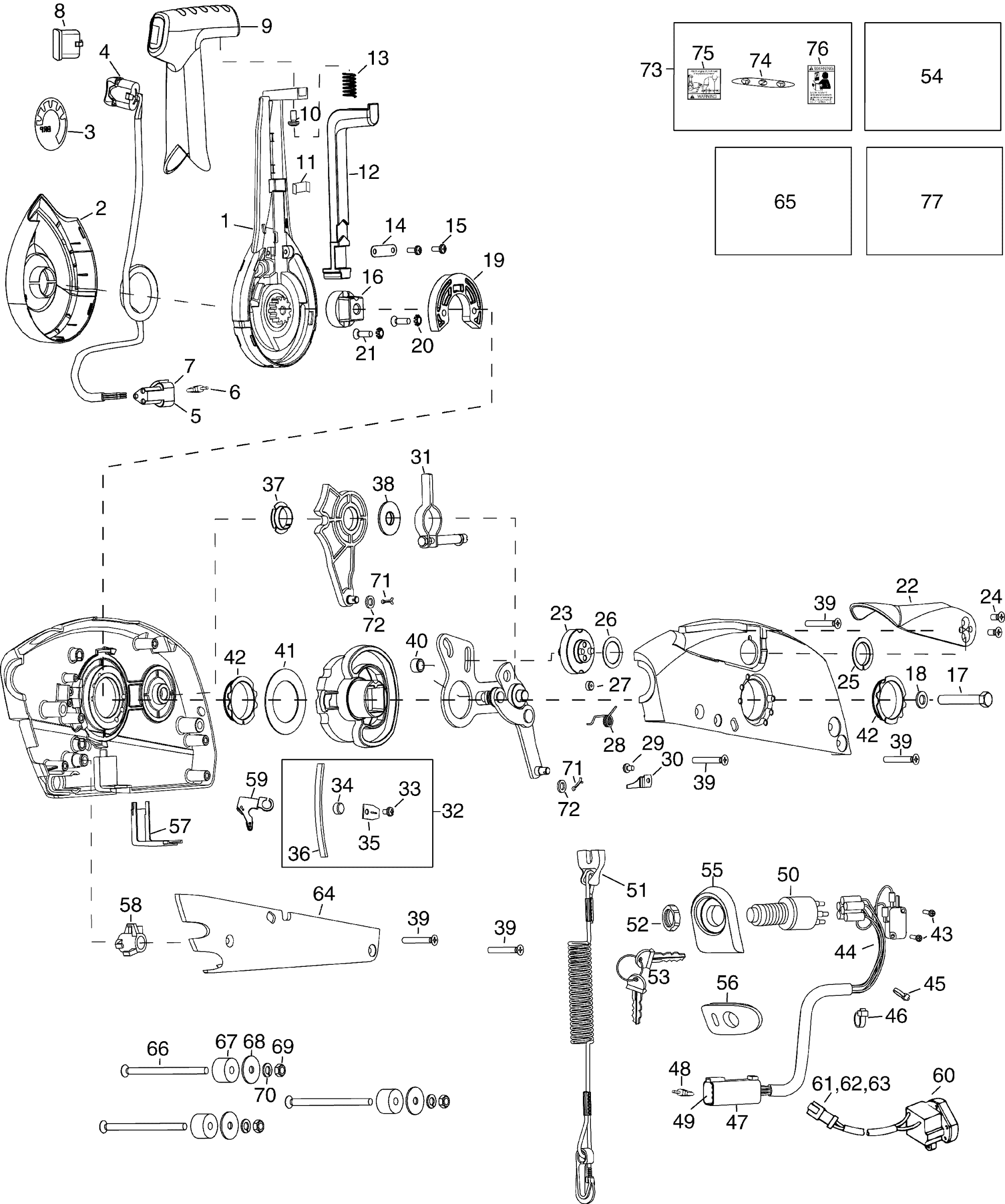 hight resolution of johnson outboard control box wiring schematic
