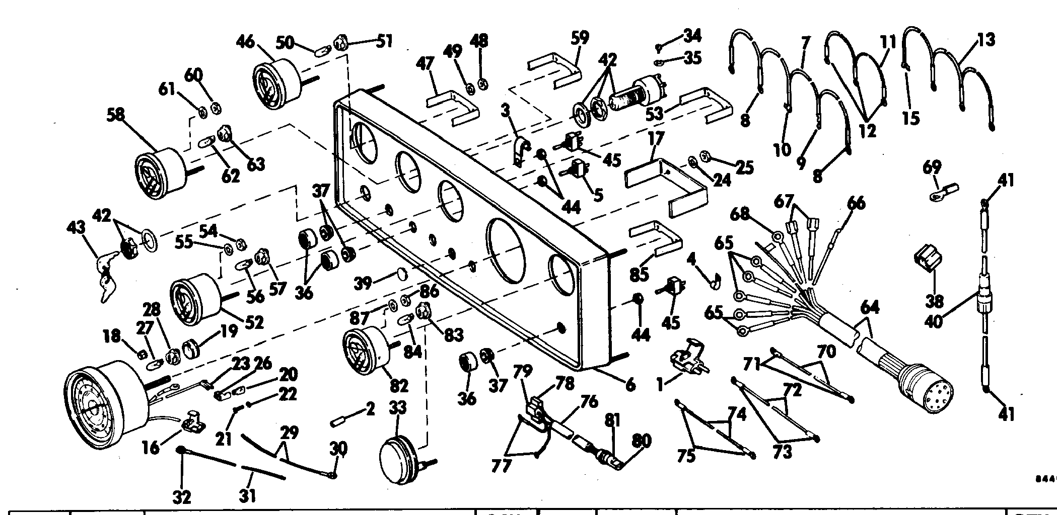 Instrument Panel Assembly Accessories for 1978 OMC Sterndrives