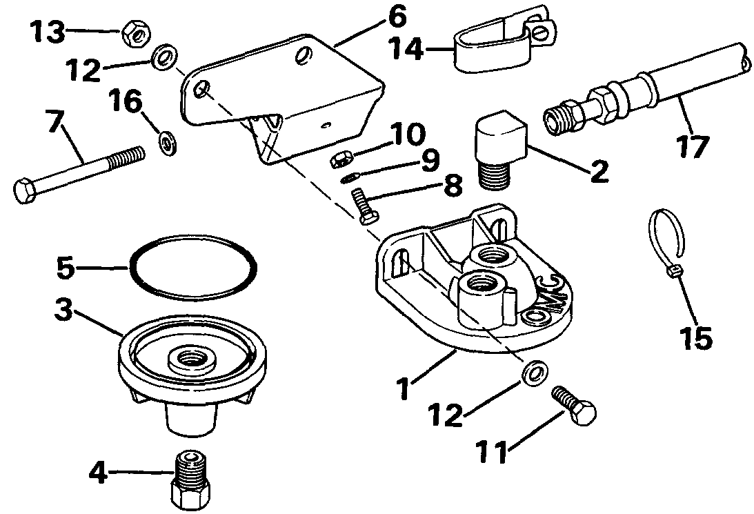 Remote Oil Filter Kit Accessories for 1986 OMC Sterndrives