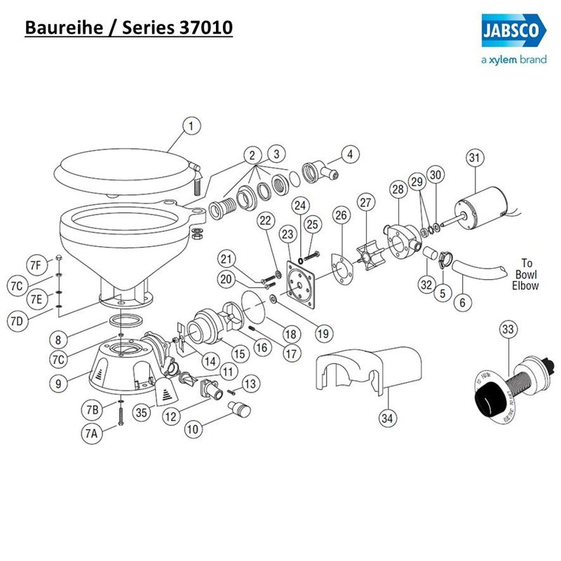 Jabsco 12554-0000 Kit Body