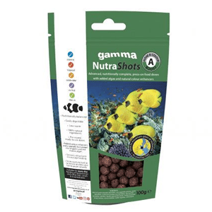 Gamma NutraShots Algae and Colour Boost available at Marine Fish Shop