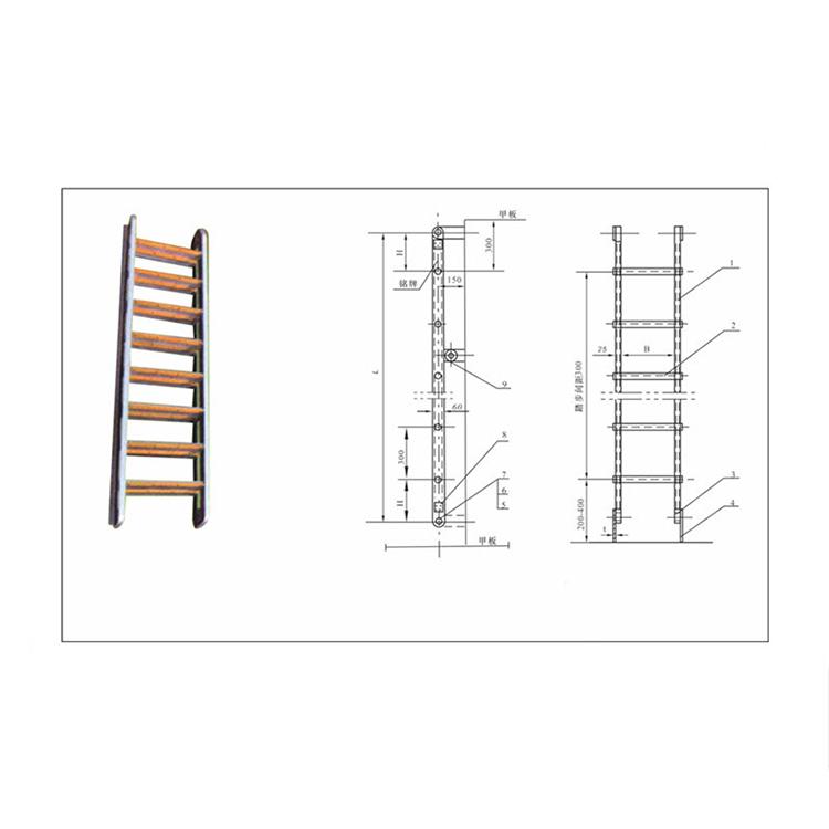 Simple Operation Aluminium Pipe Portable Vertical Ladder