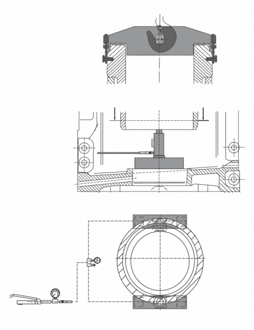 small resolution of once the liner is slightly moved out of the stuck engine structure it may be then lifted with the help of engine room crane and lifting tool