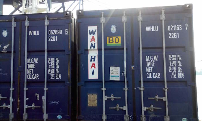 Handling Containers On Ships Dimensions Markings And Bay