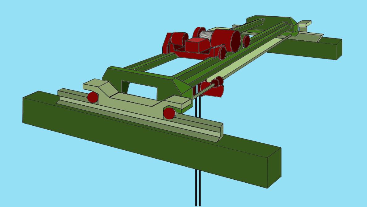 hight resolution of engine room crane