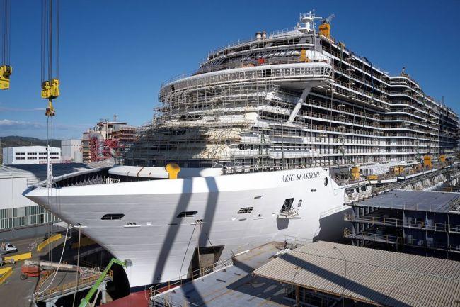 Photos: MSC Cruises Celebrates Float Out Of Its Longest Ship 'MSC Seashore'