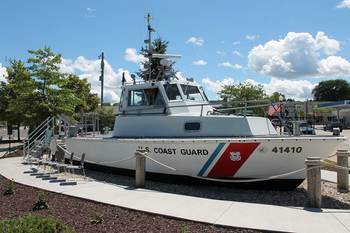File The last operational Coast Guard 41-foot patrol boat rests at the Door County Maritime Museum in Sturgeon Bay, Wisc. (USCG photo by Tom Morrell)