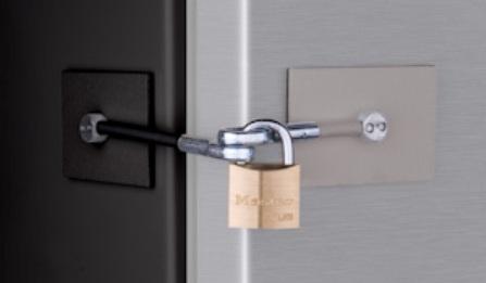 BlackStainless Refrigerator Lock for twotone appliances