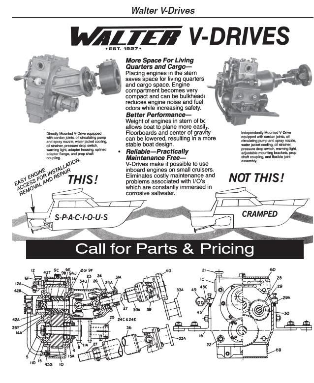 Walter transmissions V-drives