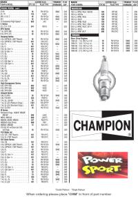 √ Champion Marine Outboard Spark Plugs for John and Mariner