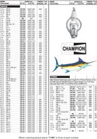 √ Mercruiser 3 0 Spark Plugs Chart   Mercruiser 110 to 190 ECMs
